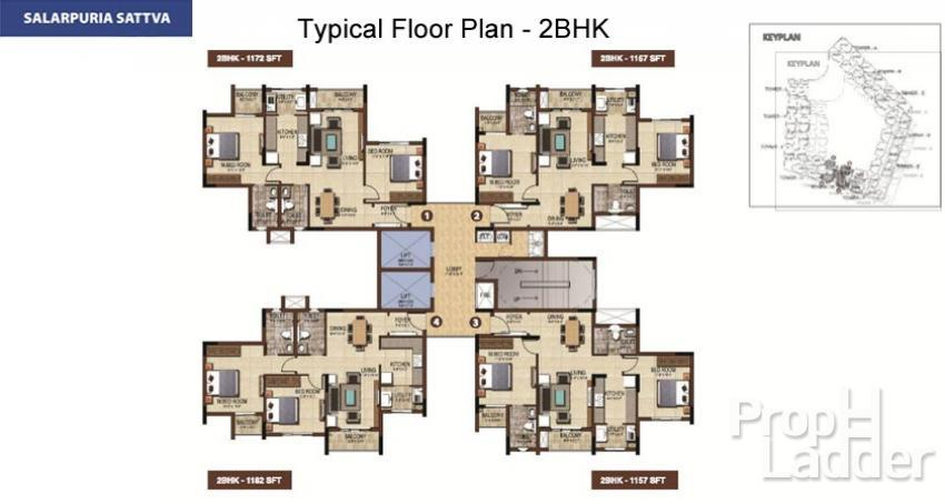 typical floor plan-2BHK