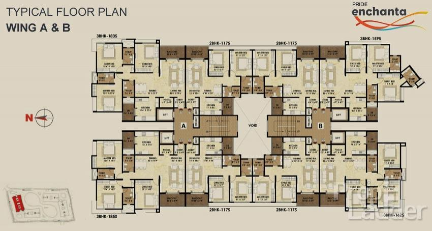 Typical floor plan A-B
