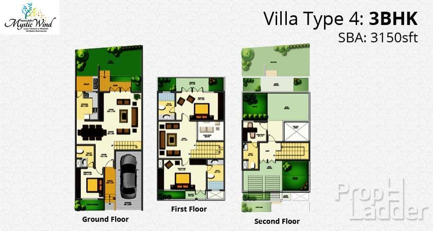 typical-floor-plan-3bhk-3150-type-4